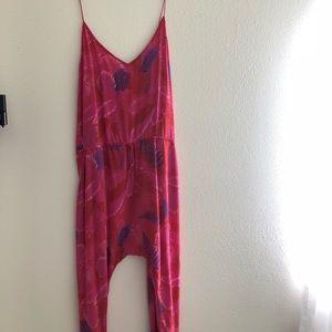 Acacia Swimwear Silk Copacabana Jumpsuit sz large